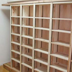 間伐材を活用したオーダーメードスライド書棚 HIROTUGU SLIDE